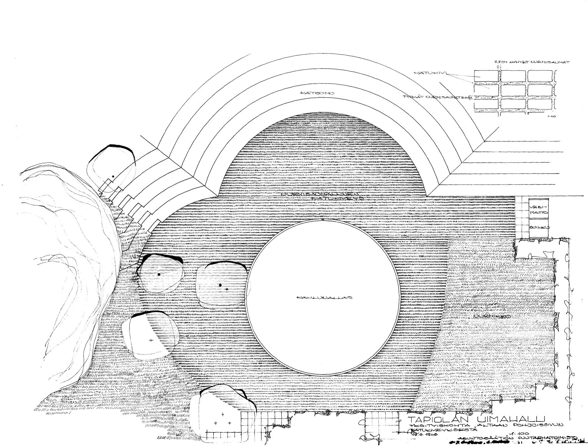 Tapiolan uimahalli, Asuntosäätiön puutarhatoimisto, C.J. Gottberg, L. Koskela