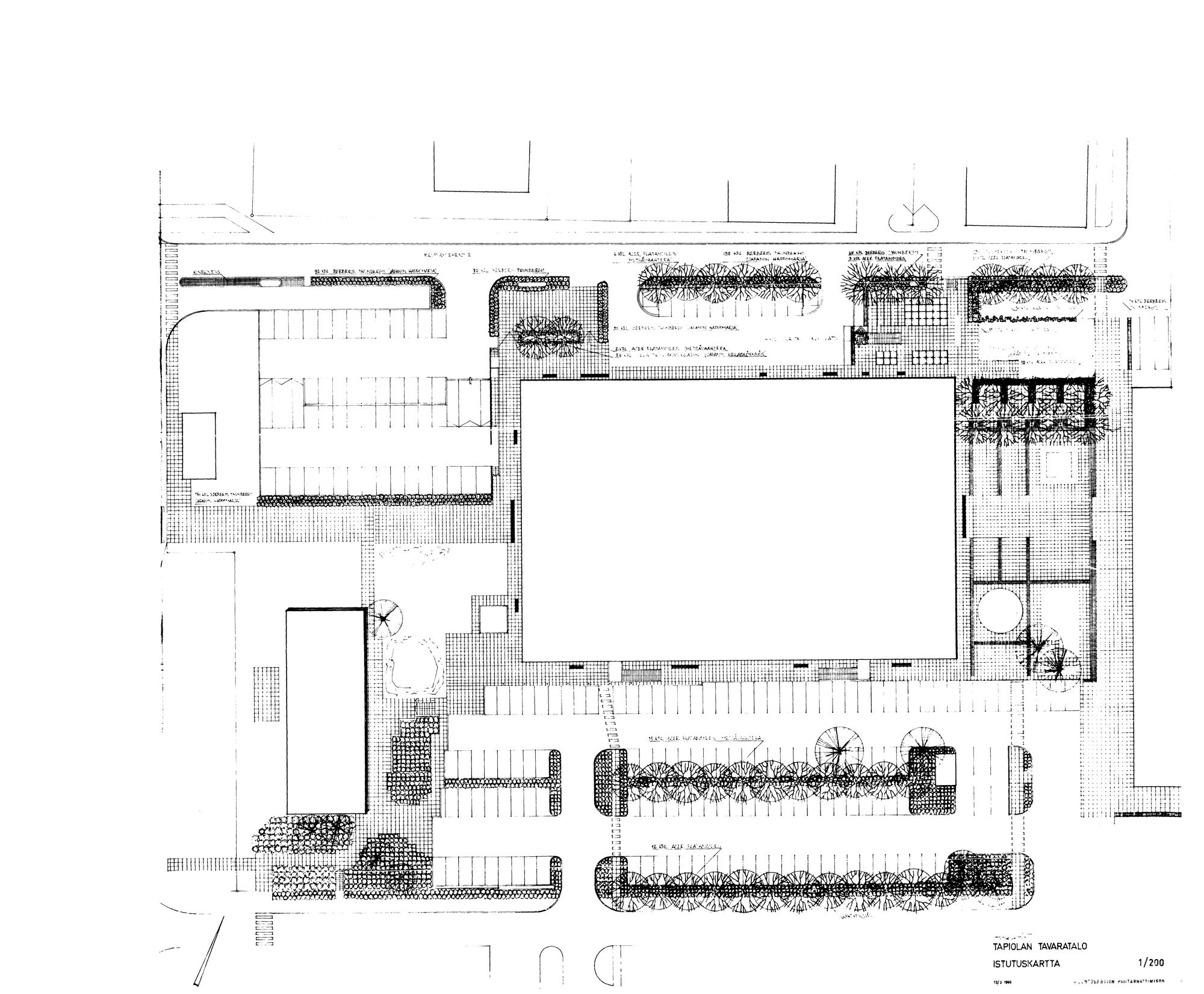 Tapiolan tavaratalo (Heikintori), Asuntosäätiön puutarhatoimisto, C.J. Gottberg